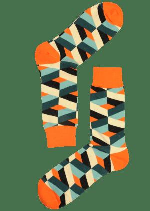 Heren Sokken met blokken