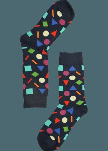 Heren sokken confetti blauw