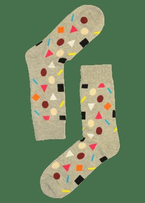 Heren sokken confetti grijs