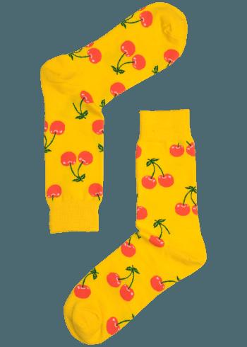 Gele Kersen Heren Sokken