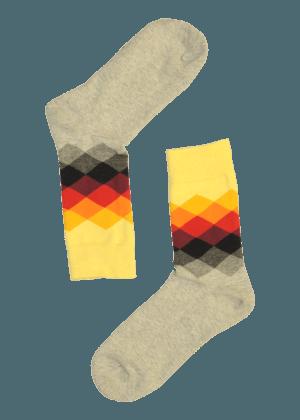 Heren Diamant Sokken Koningsok