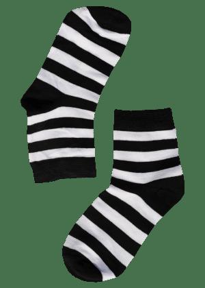 bamboe-sokken-dames-strepen-zwart