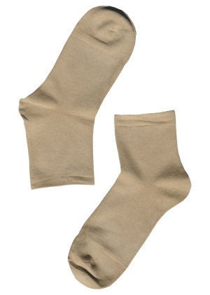 Bamboe sokken dames beige