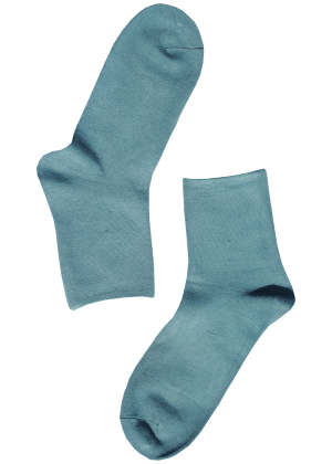Bamboe sokken dames blauw