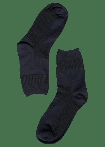 Bamboe sokken stevig donkerblauw