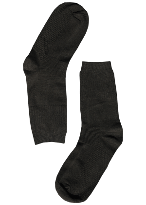 Bamboe sokken stevig zwart