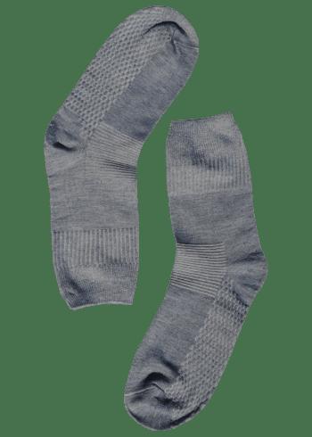Bamboe sokken stevig zilver