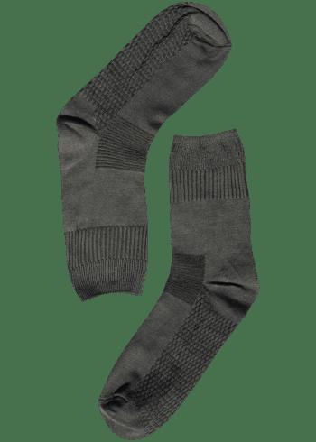 Bamboe sokken stevig grijs