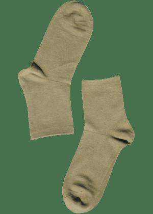 Bamboe sokken dames geelgrijs