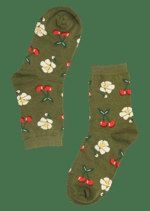 Dames Sokken Bloesem en Kers