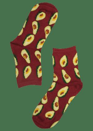 Dames sokken met avocado