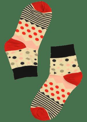 Dames sokken met stippen en strepen