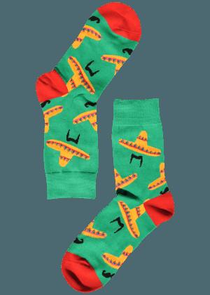 Heren sokken met sombrero