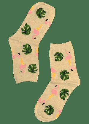 Dames-Sokken-Flamingo
