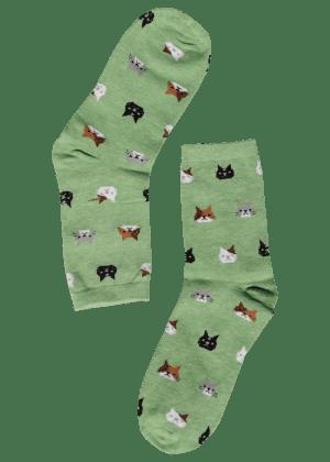 dames sokken met katten
