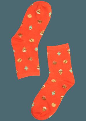 Vrouwen sokken met ijsjes
