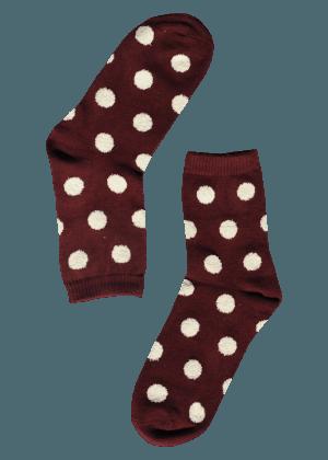 dames-sokken-stippen-rood