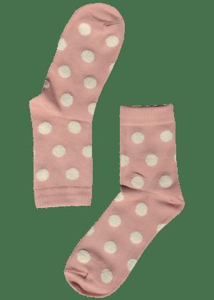 dames-sokken-stippen-roze