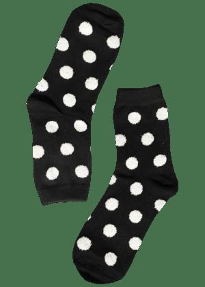 dames-sokken-stippen-zwart