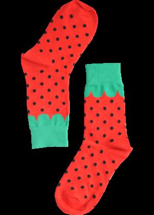 Aardbei-rood-Sokken