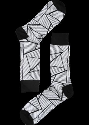 Abstracte sokken lijnen zwart wit